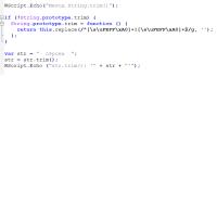 Метод trim в WSH/JScript